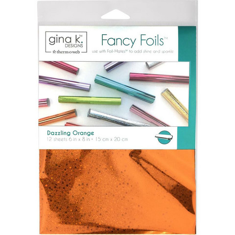 Deco Foil - Gina K Designs, Dazzling Orange Holographic (T), 12 arkkia