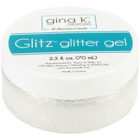 Gina K Designs - Glitz Glitter Gel, White, 70 ml