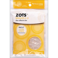 Thermoweb - Zots Singles Clear Adhesive Dots 3D, 12,7mm, 125kpl
