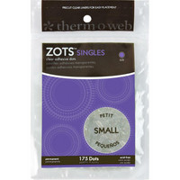 Thermoweb - Zots Singles Clear Adhesive Dots Small, 4,7mm, 175kpl