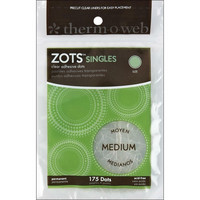 Thermoweb - Zots Singles Clear Adhesive Dots Medium, 9,5mm, 175kpl