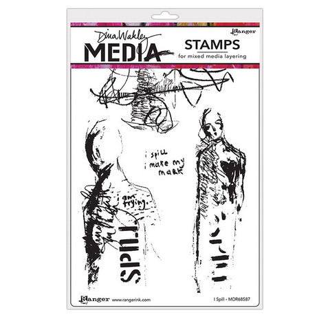 Dina Wakley Media - Cling Stamps, I Spill, Leimasetti