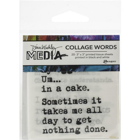 Dina Wakley Media - Collage Word Pack #3