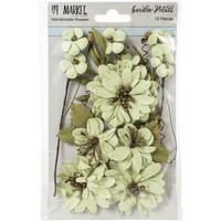 49 and Market - Garden Petals, Mint, Paperikukkasetti