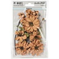 49 and Market - Garden Petals, Salmon, Paperikukkasetti