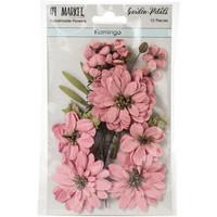 49 and Market - Garden Petals, Flamingo, Paperikukkasetti