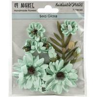 49 and Market - Enchanted Petals, Sea Glass, Paperikukkasetti