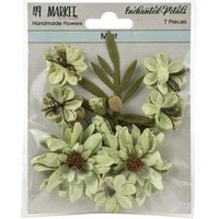49 and Market - Enchanted Petals, Mint, Paperikukkasetti