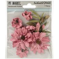 49 and Market - Enchanted Petals, Flamingo, Paperikukkasetti