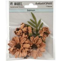 49 and Market - Enchanted Petals, Salmon, Paperikukkasetti