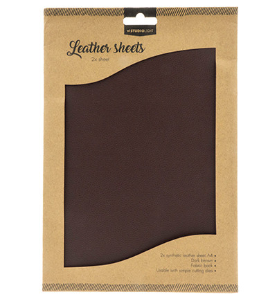 Studio Light - Fake Leather Sheets nr.03, Dark Brown
