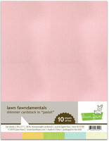 Lawn Fawn - Shimmer Cardstock Pastel 8,5