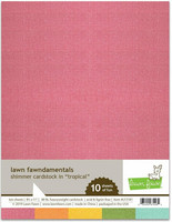 Lawn Fawn - Shimmer Cardstock Tropical 8,5