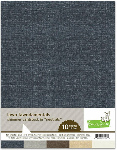 Lawn Fawn - Shimmer Cardstock Neutrals 8,5