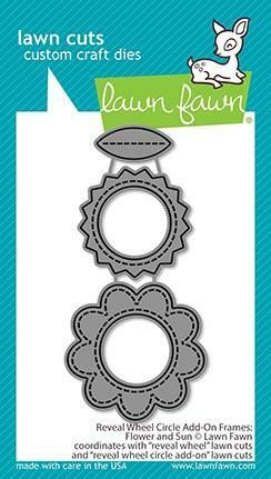 Lawn Fawn - Reveal Wheel Circle Add-On Frames Flower and Sun, Stanssisetti