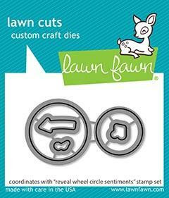 Lawn Fawn - Reveal Wheel Circle Sentiments, Stanssisetti