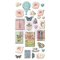 Prima Marketing - Capri Puffy Stickers, 25 osaa