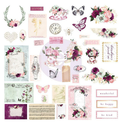 Prima Marketing - Pretty Mosaic Cardstock Ephemera, 38 osaa