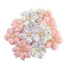 Prima Marketing - Pretty Mosaic Mulberry Flowers, Cracked Marble