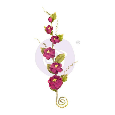 Prima Marketing - Pretty Mosaic Mulberry Flowers, Spinel