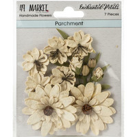 49 and Market - Enchanted Petals, Parchment, Paperikukkasetti