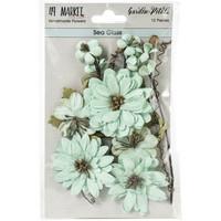49 and Market - Garden Petals, Sea Glass, Paperikukkasetti