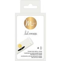 Heidi Swapp - Minc Toner Stamping Stamp Pad Refills, Vaihtomustetyyny 4kpl