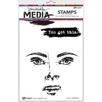 Dina Wakley Media - Cling Stamps, Fierce, Leimasetti