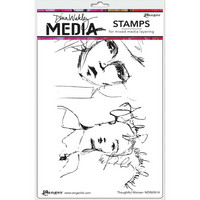 Dina Wakley Media - Cling Stamps, Thoughtful Women, Leimasetti