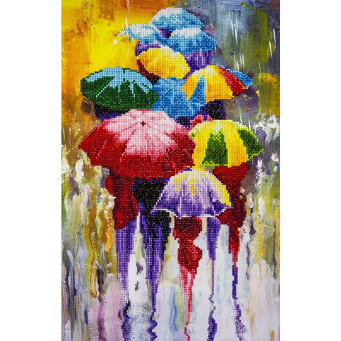 Leisure Arts - Rainy Day (O), Timanttimaalaus, 45x65cm