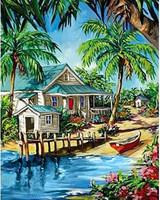 Collection D'Art - Caribbean Oasis (K), Timanttimaalaus, 38x48cm