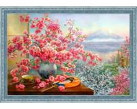 ArtMosfa - Sakura Bouquet (K), Timanttimaalaus, 60x40cm