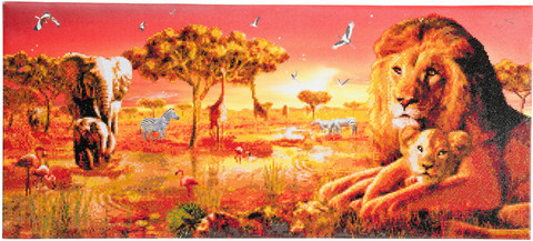 Craft Buddy - Safari Sunset (O)(P), Timanttimaalaus, 90x40cm