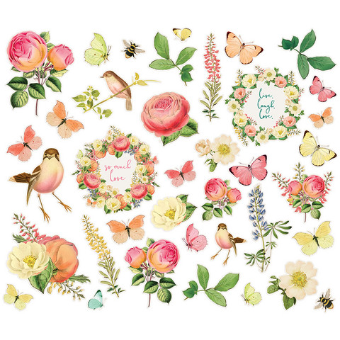 Simple Stories - Simple Vintage Garden District Floral Bits & Pieces Die-Cuts, 39 osaa