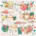 Simple Stories - Simple Vintage Garden District Banner Sticker 12