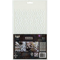 Prima Marketing - Finnabair Stencil Oriental Wall, Sapluuna 6