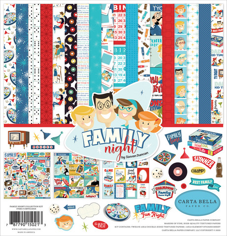Carta Bella - Family Night, Collection Kit 12