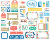 Echo Park - Dive Into Summer, Frames & Tags, Leikekuvia, 33 kpl