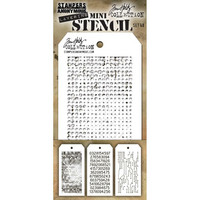 Tim Holtz - Mini Layered Stencil, Set #48