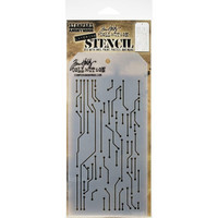 Tim Holtz - Layered Stencil, Circuit