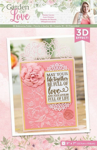 Crafter`s Companion - Sara Signature Collection 3D Embossing Folder, Kohokuviointitasku, Decadent Lilies
