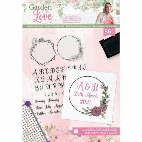Crafter`s Companion - Sara Signature Collection Garden of Love, Leimasetti, Monogram Frames
