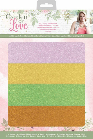 Crafter`s Companion - Sara Signature Collection Garden of Love, Luxury Glitter Card, A4, 24ark