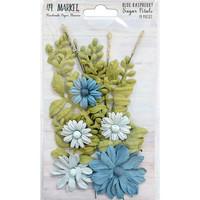 49 and Market - Sugar Petals, Blue Rasberry, Paperikukkasetti