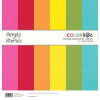 Simple Stories - Textured Cardstock Kit, Brights, 12