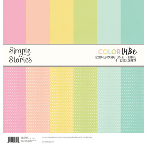 Simple Stories - Textured Cardstock Kit, Lights, 12