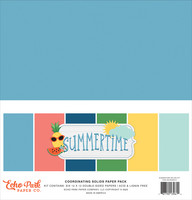 Echo Park - Summertime Solids Kit, 12