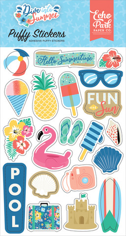 Echo Park - Dive Into Summer, Puffy Stickers