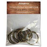 Stamperia - Book Rings, 10 kpl