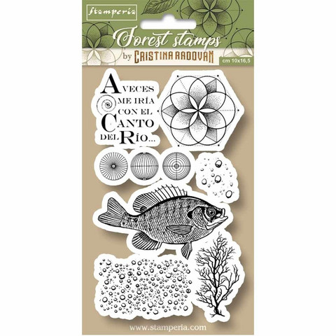 Stamperia - Natural Rubber Stamp, Fish, Leimasetti